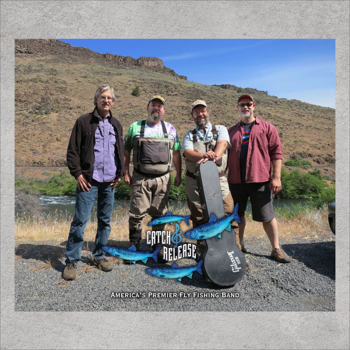 Catch & Release Band photographed on the Deschutes River near Maupin, Oregon